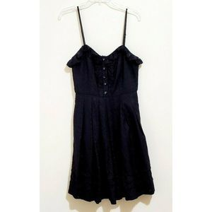 MUSE Black Fit and Flare Spaghetti Strap Dress